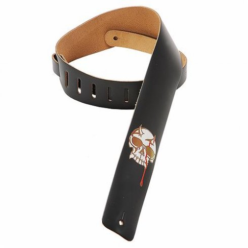 Levy's M1BS Genuine Leather Strap Black Skull