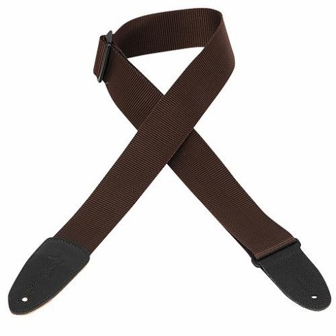 "Levy's Leathers Levy's M8-BRN 2"" Polyester Guitar Strap Brown"