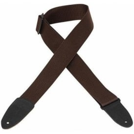 """Levy's M8-BRN 2"""" Polyester Guitar Strap Brown"""
