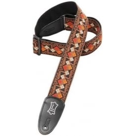 "Levy's M8HT-015 2"" Hootenanny Guitar Strap Aztec Square Brown"