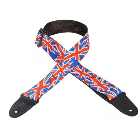 """Levy's Leathers Levy's MP-29 2"""" Wide Polyester Union Jack Guitar Strap"""