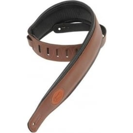 Levy's MSS2-BRN Deluxe Garment Leather Guitar Strap Brown