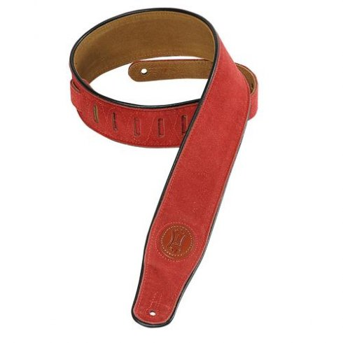 Levy's Leathers Levy's MSS3-RED Suede Guitar Strap Red