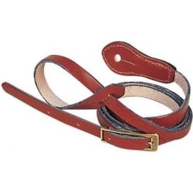 """Levy's Leathers M19DX-BRN 0.5"""" Carving Leather Brown Mandolin Strap"""