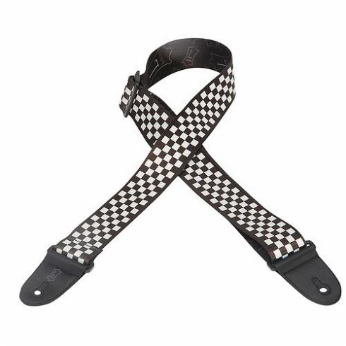 Levy's Leathers MP-28 Polyester Check Black & White Design Guitar Strap