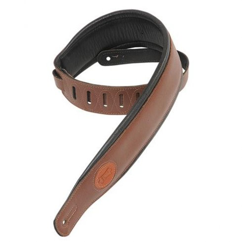 Levy's Leathers MSS2-BRN Deluxe Garment Leather Guitar Strap, Brown