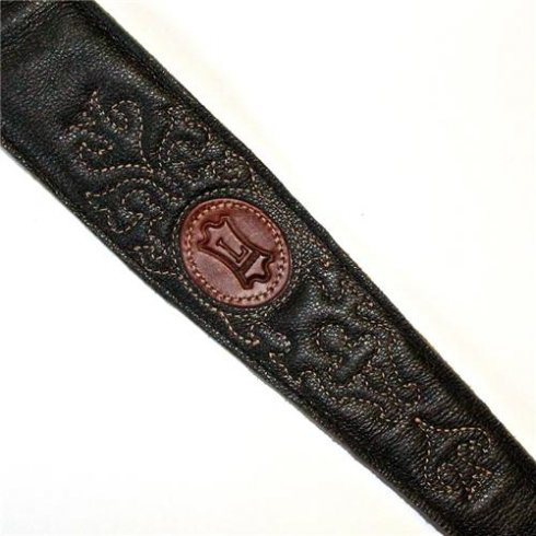 Levy's Leathers MSS60SG-BLK Country Collection Leather Guitar Strap, Black