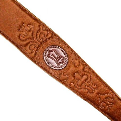 Levy's Leathers MSS60SG-TAN Country Collection Leather Guitar Strap, Tan