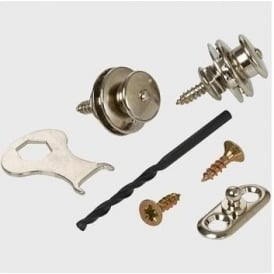LOXX Strap Locks for Acoustic Guitar, Nickel
