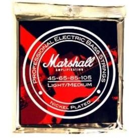 Marshall 4-String Nickel Plated 45-105 Light Medium Long Scale Bass Guitar Strings