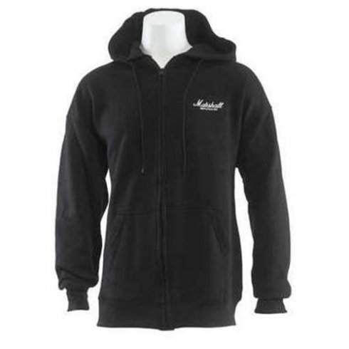 Marshall Logo Full Zip Hooded Sweatshirt Extra Large