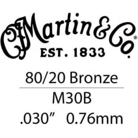 Martin .030 Bronze Wound Single String