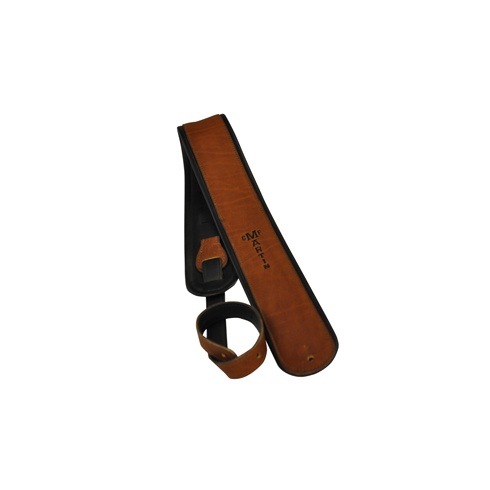 "Martin 18A0028 2.5"" Premium Rolled Leather Guitar Strap, Brown"