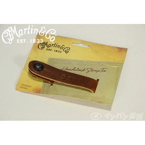 Martin 18A0032 Acoustic Guitar Headstock Brown Leather Strap Tie