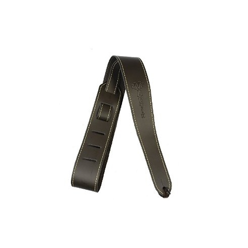 """Martin 18A0045 Slim Leather 2.5"""" Wide Brown Guitar Strap with Stitching"""