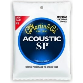 Martin 4-String Studio Performance MSP4800 Phosphor Bronze 45-100 Acoustic Bass Guitar Strings