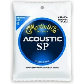 Martin 4-String Studio Performance MSP4850 Phosphor Bronze 45-105 Acoustic Bass Guitar Strings