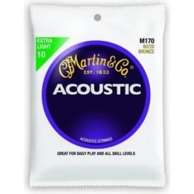 Martin 80/20 Bronze M170 Acoustic Guitar Strings 10-47 Extra Light