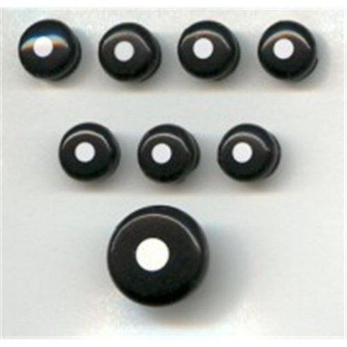 Martin Acoustic Guitar Bridge & End Pin Set Black with White Dot 18APP21