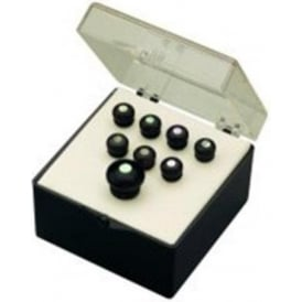 Martin Bridge & End Pin Set Black w/ Pearl Inlay