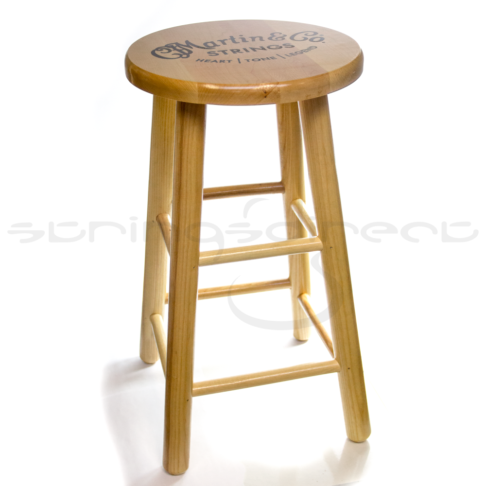 C F Martin Guitar Solid Wooden Logo Bar Stool