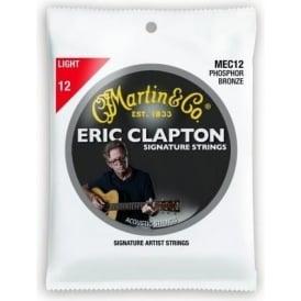 Martin Clapton's Choice MEC12 Phosphor Bronze Acoustic Guitar Strings 12-54 Light