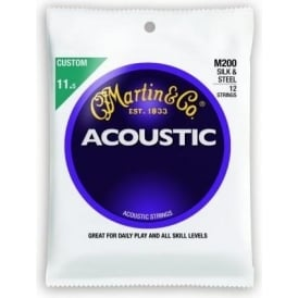 Martin M200 12-String Silk & Steel 11.5-47 Acoustic Guitar Strings