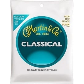 Martin M220 80/20 Bronze Loop End Classical Guitar Strings 028-043