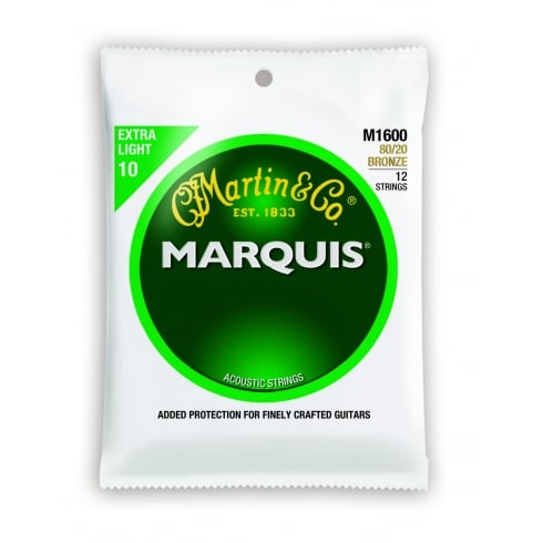 Marquis M1600 12-String 80/20 Bronze 10-47 Acoustic Guitar Strings