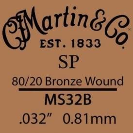 Martin Studio Performance .032 80/20 Bronze Wound Single String