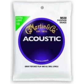 Martin Phosphor Bronze M530 Acoustic Guitar Strings 10-47 Extra Light