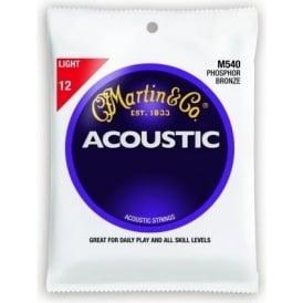 Martin Phosphor Bronze M540 Acoustic Guitar Strings 12-54 Light 6-String Set
