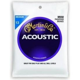 Martin Phosphor Bronze M550 Acoustic Guitar Strings 13-56 Medium Gauge
