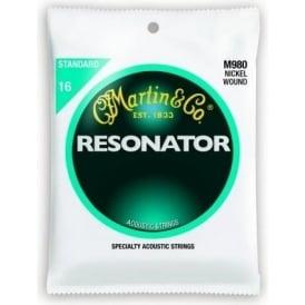 Martin Resonator M980 Nickel Wound 16-56 Resonator Guitar Strings