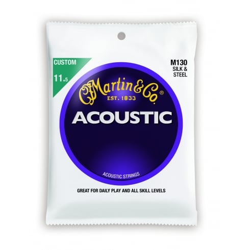 Silk & Steel M130 Folk Acoustic Guitar Strings 11.5-47 Gauge