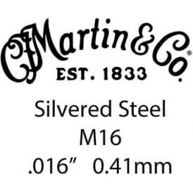 Martin Silvered Steel Single String w/ Lock Twist .016