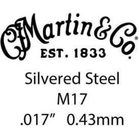 Martin Silvered Steel Single String w/ Lock Twist .017