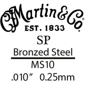 Martin SP .010 Bronze Plated Steel Single String with Lock Twist