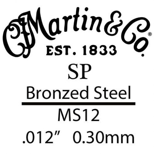 SP .012 Bronze Plated Steel Single Guitar Strings Suitable for High E