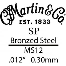Martin SP .012 Bronze Plated Steel Single Guitar Strings Suitable for High E