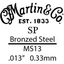 Martin SP .013 Bronze Plated Steel String for Acoustic Guitar