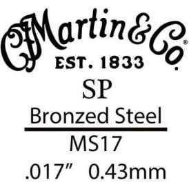 Martin SP .017 Gauge Bronze Plated Steel Acoustic Guitar B-String Single