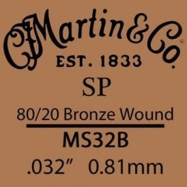 Martin Studio Performance .032 80/20 Bronze Wound Single String