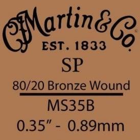 Martin Studio Performance .035 80/20 Bronze Wound Single String