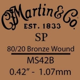 Martin Studio Performance .042 80/20 Bronze Wound Single String