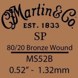 Martin Studio Performance .052 80/20 Bronze Wound Single String