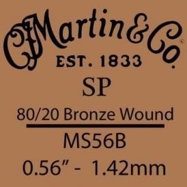 Martin Studio Performance .056 80/20 Bronze Wound Single String