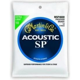 Martin Studio Performance MSP4600 Phosphor Bronze Acoustic Guitar Strings 10-47 12-String
