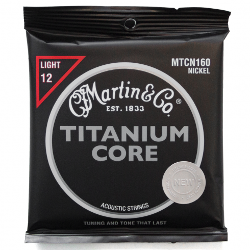 Titanium Core Pure Nickel 12-55 Acoustic Strings
