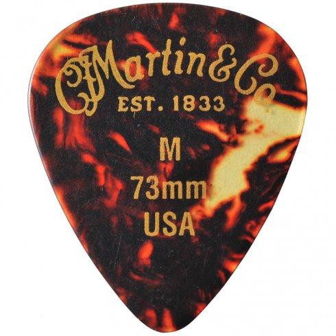 Martin Tortoise Shell 351 .73mm Medium Standard Guitar Pick 12-Pack